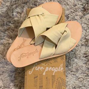 FREE PEOPLE Rio Vista Slide Sandals in Cream